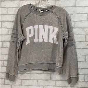 Pink vs gray sweatshirt size Small